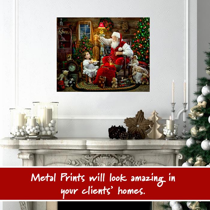 MetalPrint_Santa